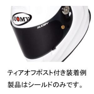 SUOMY S0319 SR-SPORT日本特別仕様専用シールド ティアオフポスト付き スモーク|ethosdesign