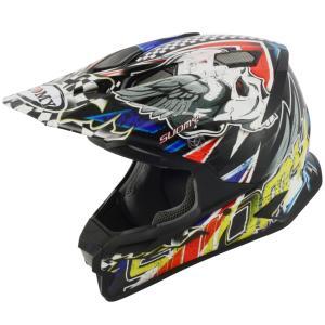 SAL0009 SUOMY ALPHA SKULL スカル Sサイズ ヘルメット SGマーク 公道走行 MFJ公認レースOK モトクロス エンデューロ  オフロード ラリー|ethosdesign