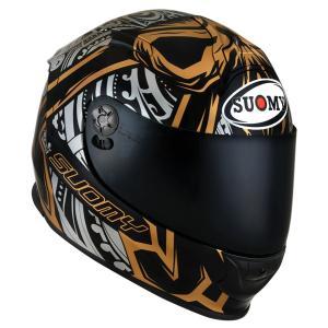 SSR0042 SUOMY SR-SPORT CROSSBORNS GOLD クロスボーンズ ゴールド ヘルメット SGマーク 公道走行OK|ethosdesign