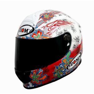 SSR00F3 SUOMY SR-SPORT FLOWER フラワー ホワイト/レッド ヘルメット SGマーク 公道走行OK 日本限定販売|ethosdesign