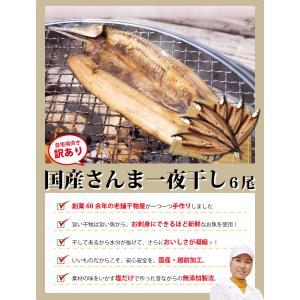 干物 さんま サンマ 秋刀魚 開き 一夜干し 干物セット 6尾入 訳あり  ((冷凍)) etizentakaraya 02