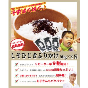 健康 しそ ひじき 生 ふりかけ 50g×3袋 セット ≪ネコポス≫|etizentakaraya|02