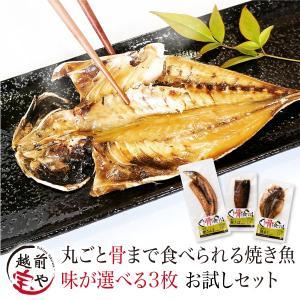 焼かずにそのまま 丸ごと骨まで食べられる 干物 焼き魚 塩・燻製・醤油 選べる 3枚 干物セット 送料無料 ≪ネコポス≫ お取り寄せ|etizentakaraya