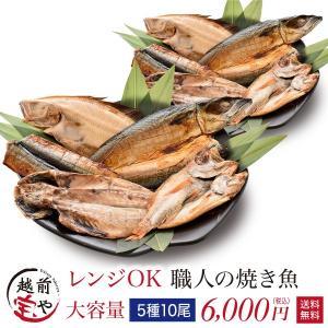 【大容量】焼き魚 干物セット 送料無料 電子レンジ 簡単調理 焼き魚 5種10尾 ((冷凍)) 高級 干物 自宅用 お得 お取り寄せ 大家族 シェア 共同購入|etizentakaraya
