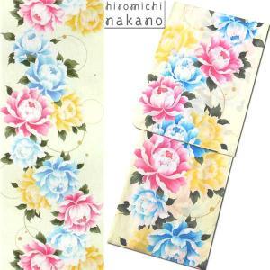 浴衣 hiromichi nakano/ナカノヒロミチ9N-6 綿 プレタゆかた 薄緑/バラ|etizenya