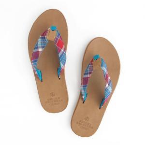サンダル メンズ ブルックス ブラザーズ Brooks Brothers flip-flops MADRAS|etny