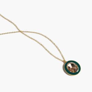 ジェイクルー ペンダントネックレス J.CREW WOMEN jeweled enamel pendant PI etny