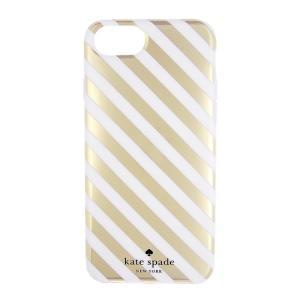 ケイトスペード iPhone 6 7 8 ケース ゴールド kate spade new york protective case for iPhone GOLD STRIPE etny