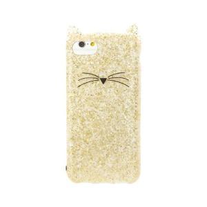 ケイトスペード iPhone 6 7 8 ケース kate spade new york Cat Gold Glitter Clear Case for iPhone|etny