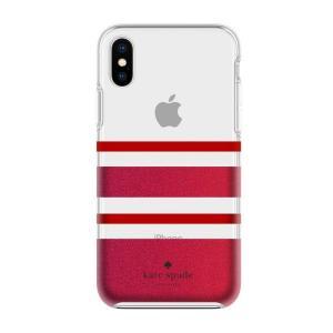 ケイトスペード iPhone X ケース kate spade new york protective hardshell case for iPhone X STRIPE|etny