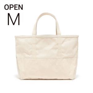 エルエルビーン ビームス ボート&キャンバストート 生成 ナチュラル L.L.Bean for BEAMS boat and tote bag open-top (Irregular) regular handle NATURAL M|etny