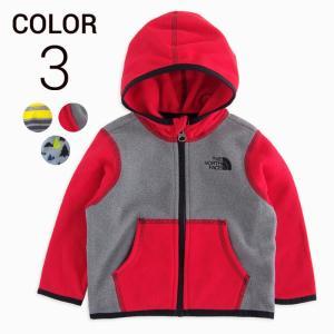 フリースジャケット ノースフェイス ベビー 1歳 THE NORTH FACE KIDS infant glacier full zip hoodie 3color|etny