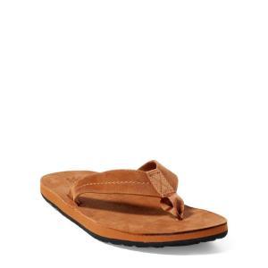 ラルフローレン レザーサンダル 27/28cm POLO RALPH LAUREN edgemont nubuck leather sandal TAN|etny