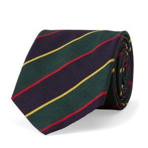 ラルフローレン ナロータイ ストライプ POLO RALPH LAUREN striped linen narrow tie etny