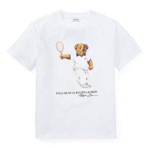 ラルフローレン ポロベア Tシャツ ボーイズ POLO RALPH LAUREN BOYS tennis bear cotton t-shirt WH (BOYS XL)|etny