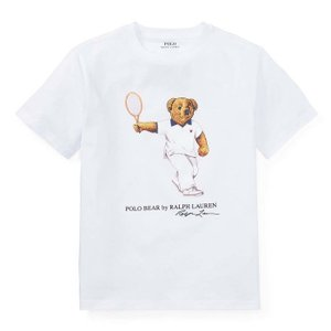 ラルフローレン キッズ ポロベア Tシャツ POLO RALPH LAUREN BOYS tennis bear cotton t-shirt WH|etny