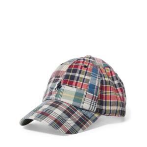 ラルフローレン キャップ POLO RALPH LAUREN patchwork madras baseball cap|etny