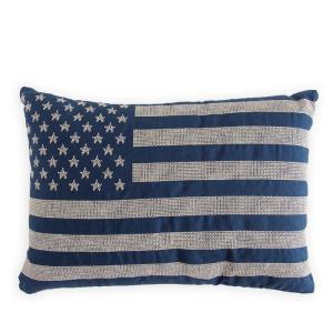 ラルフローレン フラッグ刺繍 クッション カバー セット RALPH LAUREN HOME cotton pillow BL|etny