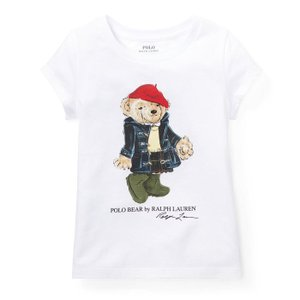 ラルフローレン ガールズ ポロベア Tシャツ POLO RALPH LAUREN GIRLS Wellie bear cotton t-shirt|etny