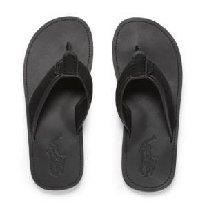 ラルフローレン レザーサンダル 29cm POLO RALPH LAUREN Sullivan Leather Sandal BK|etny