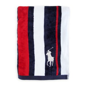 ラルフローレン タオル RALPH LAUREN HOME signature pony striped beach towel|etny