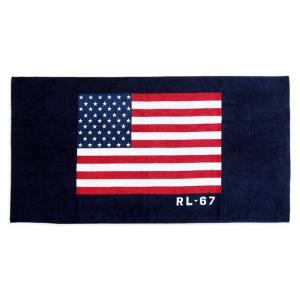 ビーチタオル ラルフローレン フラッグ 星条旗 RALPHLAUREN HOME RL-67 flag beach towel|etny