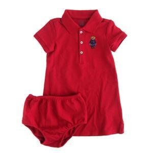 ワンピース キッズ ベビー ラルフローレン POLO RALPH LAUREN GIRLS polo bear mesh dress RE (6カ月-1歳半)|etny