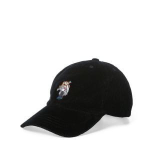 ラルフローレン キャップ ポロベア コーデュロイ ボーイズ 2歳 8-20歳 POLO RALPH LAUREN BOYS polo bear corduroy baseball cap BK|etny