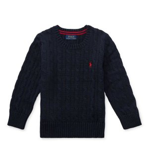 ラルフローレン セーター ボーイズ ケーブルニット ネイビー POLO RALPH LAUREN BOYS cable-knit cotton sweater NAVY (BOYS M)|etny