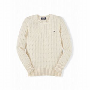 ラルフローレン セーター ボーイズ ケーブルニット クリーム 白 POLO RALPH LAUREN BOYS cable-knit cotton sweater CREAM BOYS (M-L)|etny