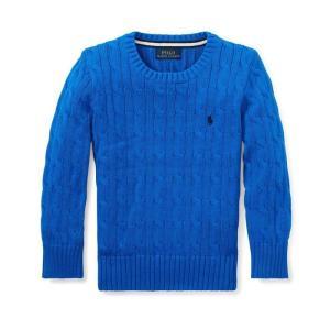 ラルフローレン ボーイズ セーター 6歳 POLO RALPH LAUREN BOYS cable-knit cotton sweater BLUE|etny
