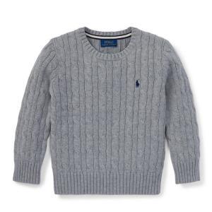 ラルフローレン ボーイズ セーター グレー 7歳POLO RALPH LAUREN BOYS cable-knit cotton sweater GREY|etny