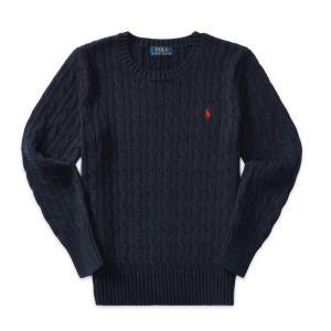 ラルフローレン ボーイズ セーター 2歳 4歳 ネイビー POLO RALPH LAUREN BOYS cable-knit cotton sweater NAV|etny