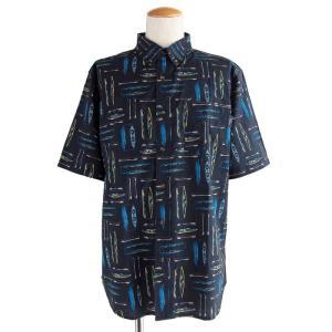 半袖シャツ メンズ ウールリッチ M Woolrich walnut run printed shirt|etny