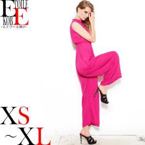 オールインワン ダンス 衣装 結婚式 服 二次会 お呼ばれ パーティードレス パンツドレス ワンピース ピンク|etoilekobe