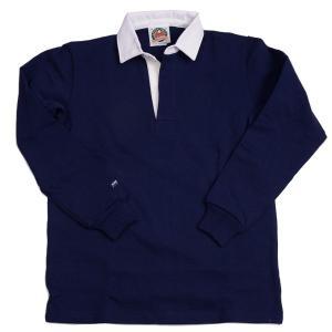 バーバリアン メンズラガーシャツ レギュラーカラー長袖 無地 12oz ヘビーウエイトコットン100% クラシックモデル ネイビー|eton