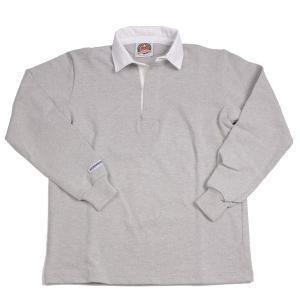 バーバリアン メンズラガーシャツ レギュラーカラー長袖 無地 12oz ヘビーウエイトコットン100% クラシックモデル アッシュグレー|eton