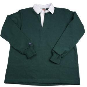 バーバリアン メンズラガーシャツ レギュラーカラー長袖 無地 12oz ヘビーウエイトコットン100% クラシックモデル ボトルグリーン|eton