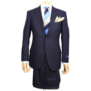 春夏 メンズビジネススーツ 2102-28 エルメネジルド・ゼニア クールエフェクト ブリテッシュトラディショナル シャドーストライプ ネイビー|eton
