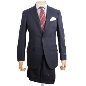 春夏 メンズビジネススーツ 3101-18 エルメネジルド・ゼニア クールエフェクト ブリテッシュトラディショナル シャドートラックストライプ チャコール|eton