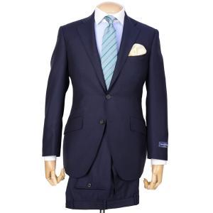 春夏メンズスーツ エルメネジルド・ゼニア トロピカル ブリテッシュトラディショナルモデル シャドーストライプ ネイビー|eton