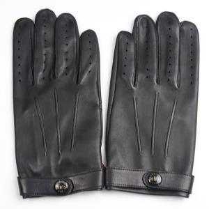 デンツ メンズ DENTS MEN'S 14-1007 レザーグローブ 革手袋 ヘアシープ インシーム ノーライニング ジェームズ・ボンド ブラック|eton