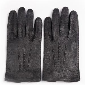 デンツメンズ DENTS 英国王室ご用達ペッカリーレザーグローブ(革手袋、南米の猪豚科)ブラック アウトシーム ノーライニング eton