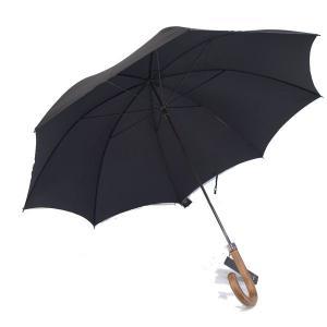 フォックス・アンブレラズ(FOX UMBRELLAS)《ハンドル/木目ダークウッドの細身傘(洋傘、蝙蝠傘、雨傘)GT1モデル》BLACK(ブラック/黒)|eton