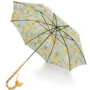 フォックス・アンブレラズ レディース WL4-51cm長傘 ワンギーハンドル リバティプリント傘 イギリス製 UVカット 晴雨兼用 ピンク系|eton