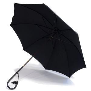 フォックス・アンブレラズ レディース(FOX UMBRELLAS LADIES)細身レザーハンドル 定番傘(SLIM LEATHER HANDLE) UVカット 晴雨兼用 WL1モデル ブラック|eton