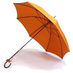 フォックス・アンブレラズ レディース(FOX UMBRELLAS LADIES)細身レザーハンドル 定番傘(SLIM LEATHER HANDLE) UVカット 晴雨兼用 WL1モデル オレンジ|eton