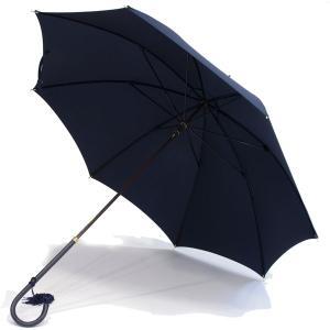 フォックス・アンブレラズ レディース(FOX UMBRELLAS LADIES)細身レザーハンドル 定番傘(SLIM LEATHER HANDLE) UVカット 晴雨兼用 WL1モデル ネイビー|eton