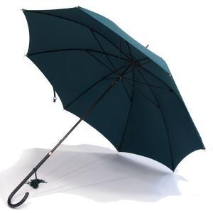 フォックス・アンブレラズ レディース(FOX UMBRELLAS LADIES)細身レザーハンドル 定番傘(SLIM LEATHER HANDLE) UVカット 晴雨兼用 WL1モデル グリーン|eton
