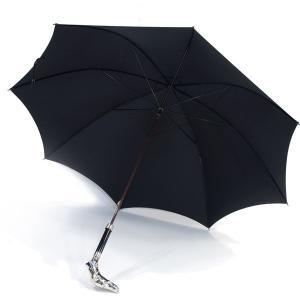 フォックス・アンブレラズ(FOX UMBRELLAS)《ハンドル/アニマルヘッド グレーハウンドの細身傘(洋傘、雨傘)GT29モデル》BLACK(ブラック/黒)|eton